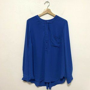 Lane Bryant 14 16 Button Up Blouse with Pocket